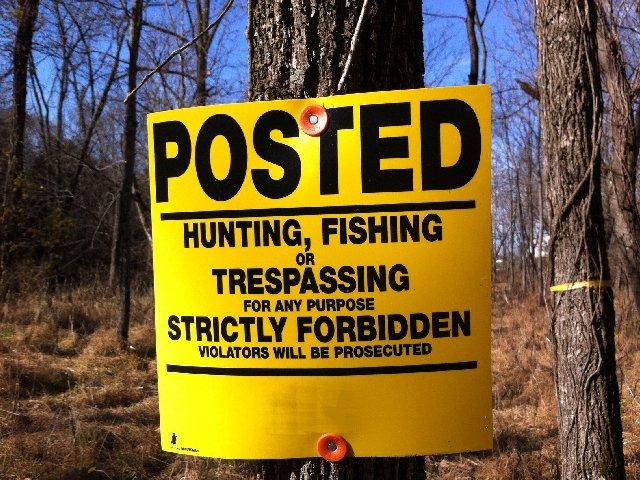 Posted No Hunting